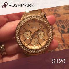 Rose Gold Fossil Watch Rose Gold Fossil Watch Fossil Jewelry Bracelets
