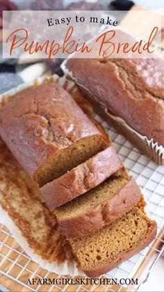 Pumpkin Pound Cake, Pumpkin Spice Bread, Canned Pumpkin, Thanksgiving Recipes, Fall Recipes, Bread Machine Recipes, Bread Recipes, Grandma's Recipes, Apple Recipes