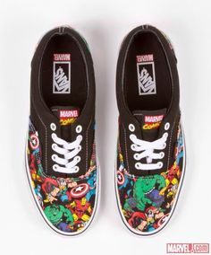 Marvel, vans, I really want these but can I justify spending 9000 yen on then? no..