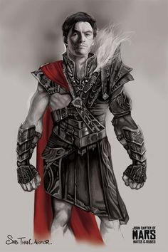 "Concept art for the villain Sab Than played by Dominic West in Disney's fantastic sci-fi fantasy adventure film ""John Carter""."