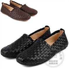 100.52$ Buy here - http://ali933.worldwells.pw/go.php?t=32736312578 - Cozy Trendy Slipon Shoes Cowhide Boat Shoes Men Braid Ventilate Soft Leather Solid Color Moccasin Mens Shoes Casual Plain 100.52$