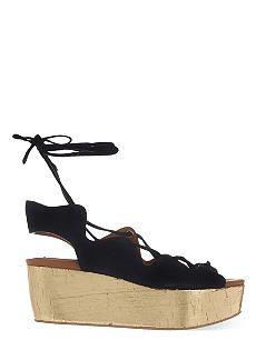SEE BY CHLOE Crosta suede wedge sandals