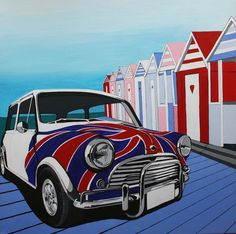 A shore thing - Classic Mini by the coast.  Copyright: Samantha Cannon.