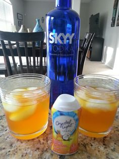 Refreshing low calorie cocktail. 2 shots of water,  1 shot of vodka,  and a squirt of any flavor Crystal Light