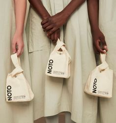 Mini Tote from NOTO to hold all the essentials Print Packaging, Packaging Design, Bag Packaging, Branding Design, Takeaway Packaging, Fuchsia, Pouch Bag, Fashion Labels, Mode Style