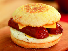 """Spice"" up your day with a Spicy Smoked Sausage Breakfast Sandwich!"
