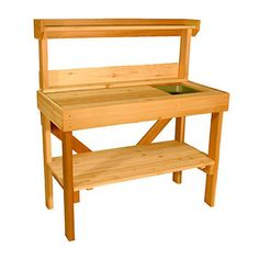 Aquila Red Cedar Potting Bench - Benches and Shelves