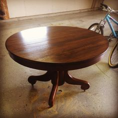 58 Water Street: The Pedestal Table Is Finished - And My Thoughts On The Refinishing Process