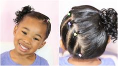 Side Ponytail w/ Elastics Black Baby Hairstyles, Mixed Kids Hairstyles, Easy Toddler Hairstyles, Side Ponytail Hairstyles, Girls Natural Hairstyles, Girl Haircuts, Boy Hairstyles, Headband Hairstyles, Hairstyle For Girls Video