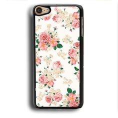 Pink Carnations Floral iPod Touch 6 Case