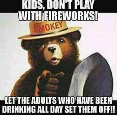 An image tagged chuck norris,smokey the bear,memes,funny Funny 4th Of July, Fourth Of July, Funny Quotes, Funny Memes, Hilarious, Jokes, It's Funny, Stupid Memes, True Quotes