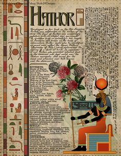 Hathor, Book of Shadows page, Ancient Egyptian Gods and Goddesses – Candle Making Ancient Egyptian Deities, Egyptian Mythology, Egyptian Goddess, Goddess Art, Wiccan, Pagan Witchcraft, Grimoire Book, African Tribes, Book Of Shadows