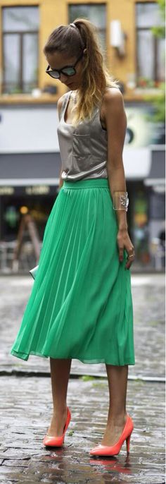 Adorable Green skirt
