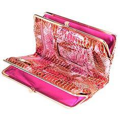 hobo pink peony lauren clutch wallet hobo wallets love the snake skin inside - Double Frame Clutch Wallet