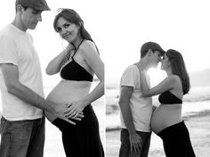 Beach Maternity Portraits by Maggie Keegan Gross Photography