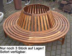 Teak-Holz-Garten-Baumbank-rund-220cm-Baum-Bank-NEU