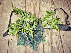 Poison Ivy Rave bra by TheLoveShackk on Etsy, $77.00