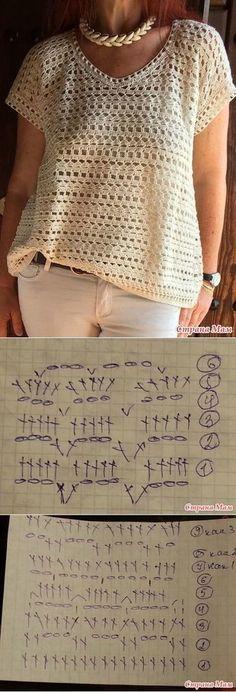 Fabulous Crochet a Little Black Crochet Dress Ideas. Georgeous Crochet a Little Black Crochet Dress Ideas. Pull Crochet, Gilet Crochet, Mode Crochet, Crochet Shawl, Diy Crochet, Crochet Blouse, Crochet Stitches, Crochet Summer, Simple Crochet