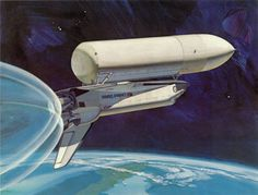 astrohardware:  Space Shuttle launch concept art. Excellent portrayal of vacuum effects on the engines exhaust.