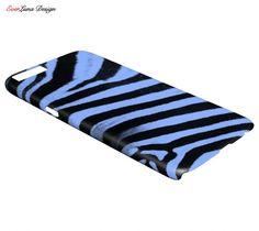 Blue zebra Phone case iPhone 7 6 and 5 Samsung S7 by EverLunaStore