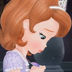Little Disney Princess, Princess Sofia The First, Disney Princess Fashion, Cartoons Love, Disney Cartoons, Sofia Amulet, Princes Sofia, Walt Disney Cinderella, How To Make Lipstick