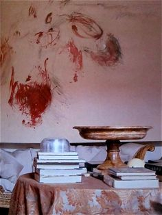 Cy Twombly's Roma apartment shot by Horst P. Horst for Vogue in 1966