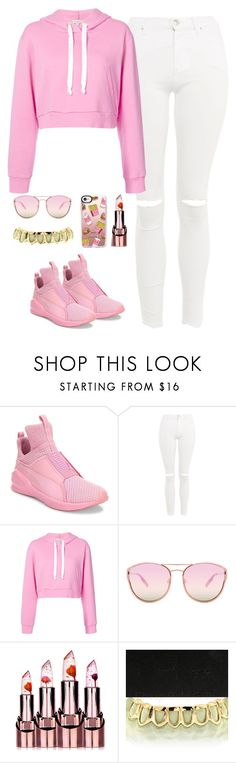 """""""Priorities"""" by quonton ❤ liked on Polyvore featuring Puma, Topshop, Natasha Zinko, Quay and Casetify"""