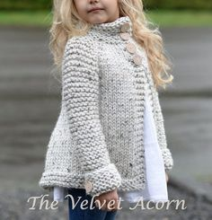KNITTING PATTERN-The Brink Sweater (2, 3/4, 5/6, 7/8, 9/10, 11/12, S, M, L…