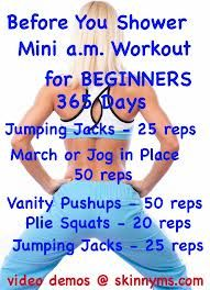 AM WORKOUT!!!! Quick start to your morning before you shower!