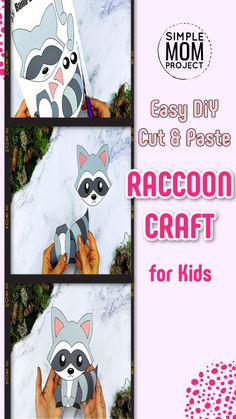 Woodland Raccoon Crafts are fun ways for your kids to learn the letter R Easy Preschool Crafts, Preschool Art Projects, Fun Diy Crafts, Forest Animal Crafts, Animal Crafts For Kids, Crafts For Kids To Make, Printable Templates, Printable Crafts, Free Printable Coloring Pages