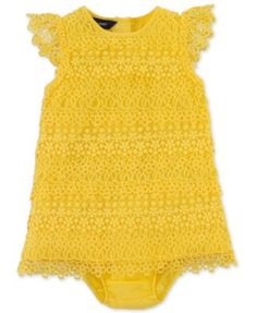 Ralph Lauren Baby Girls Dress, Baby Girls Cotton Lace Dress