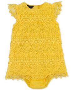 Ralph Lauren Baby Girls Dress, Baby Girls Cotton Lace Dress