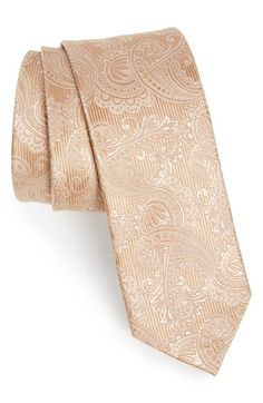 The Tie Bar Textured Paisley Silk Tie available at #Nordstrom