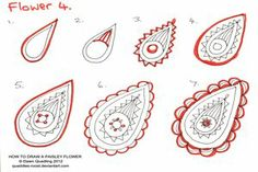 How to draw Paisley Flower 16 by *Quaddles-Roost on deviantART