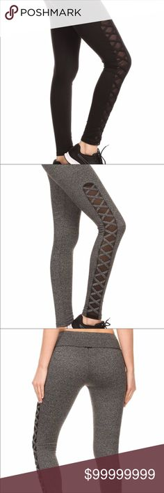✖️Criss Cross Mesh Leggings✖️ Active leggings for running, yoga, or just hanging out.  Elastic waistband!  Super soft and comfy!  I have a pair for myself and they're my go-to pair of leggings.  Comfortable and stylish. shosho Pants Leggings
