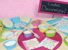 Great Easter party idea: Cookie Decoration Station.