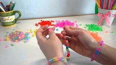 Colorful bracelets from drinking straws Colorful Bracelets, Business For Kids, Straws, Drinking, Creativity, Learning, Simple, Videos, How To Make