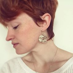 The lovely Harper sharing with us the Small Sphere Quill Earrings! Gah! Gorgeous.  #elegant #beauty #porcupinequills #TLEmery #TashinaLeeEmery