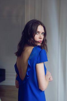 Robe Adélaïde bleu Klein LATELIER DE CAMILLE