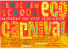 Lewes new school summer fair poster