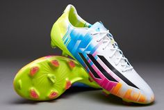 View and buy the adidas adiZero Messi TRX FG - White/Black/Slime adidas adizero at Pro:Direct SOCCER. Messi Soccer Cleats, Adidas Soccer Shoes, Football Shoes, Football Stuff, Trx, Black Slime, Play Soccer, Running, Boots