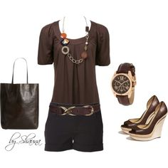 """Rachel Zoe wedge with necklace trimmed top"" by shauna-rogers on Polyvore"