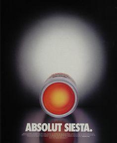 2003 Ad Absolut Mandrin Siesta Bottle Orange Bottom - ORIGINAL ADVERTISING ABS2