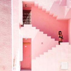Calp is a totally normal Spanish town until you see the huge rock rising 300 meters straight from the sea. Here's the ultimate Guide to Calp! Pink Love, Pretty In Pink, Girly, Everything Pink, Pink Aesthetic, Pink Fashion, Architecture, Pastel Colors, Exterior Design