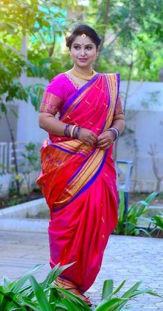 Marathi Saree, Marathi Bride, Kashta Saree, Sarees, Beautiful Girl Indian, Beautiful Women, Nauvari Saree, Sari Dress, Indian Blouse