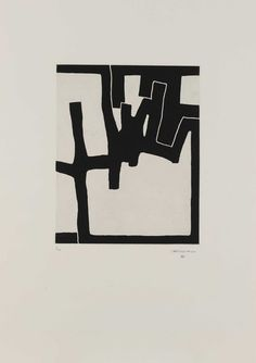 Eduardo Chillida Inguru VI, Etching and aquatint mounted on China paper. Plate size: H x W. Sheet size: H x W. Edition of 30 copies. Contemporary Abstract Art, Modern Art, Creation Art, Art Graphique, White Art, Painting & Drawing, Printmaking, Illustration Art, Drawings