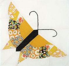 Pieced Butterfly - I must do this and add a passion flower block and maybe the caterpillar and cacoon!