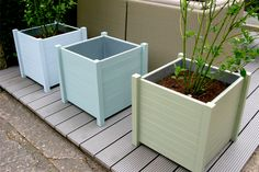 Our new Farrow & Ball hand-painted hardwood planters! Contemporary Garden Furniture, Farrow Ball, Outdoor Furniture, Outdoor Decor, Garden Ideas, Hardwood, Planters, Hand Painted, Colours