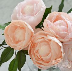 How to make realistic looking fabric peonies - great video tutorial!