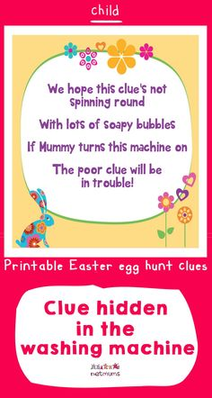 Looking for inspiration for Easter egg hunt clues? We've got some great ones that will take your kids on an exciting trail to find the ultmate prize of . Easter Egg Hunt Clues, Easter Eggs, Happy Easter, Free Printables, Inspiration, Ideas, Happy Easter Day, Biblical Inspiration, Inspirational